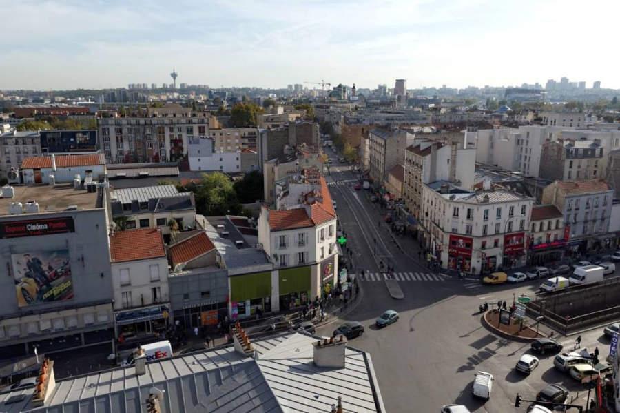 Vista de las calles de Pantin