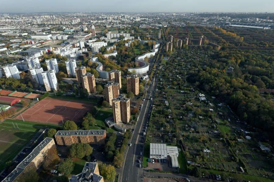 Parque Les Courtillières, conocido como la Ciudad Parque