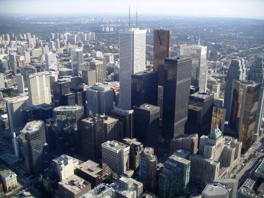 Vista panorámica de los edificios de Toronto