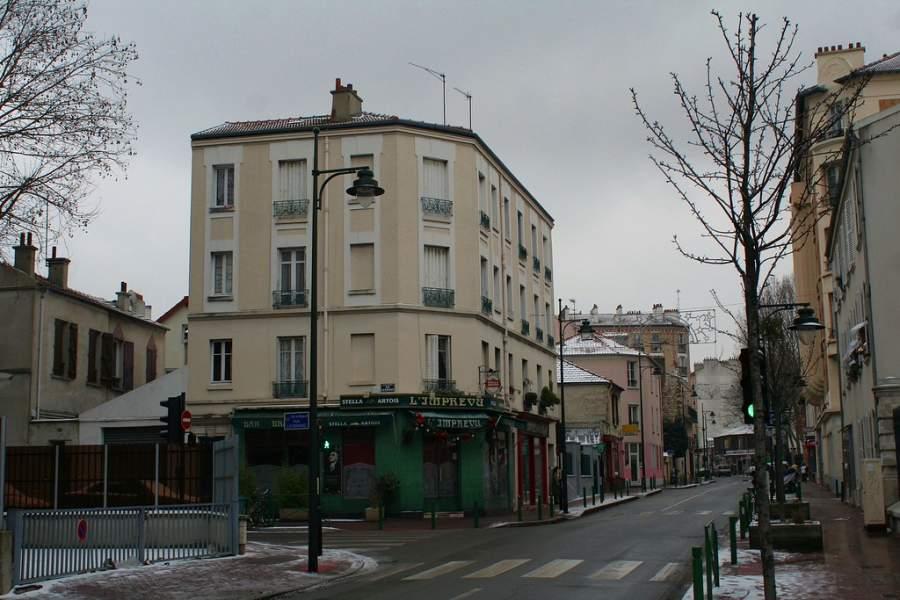 Avenida Pierre-Larousse en la comuna de Malakoff
