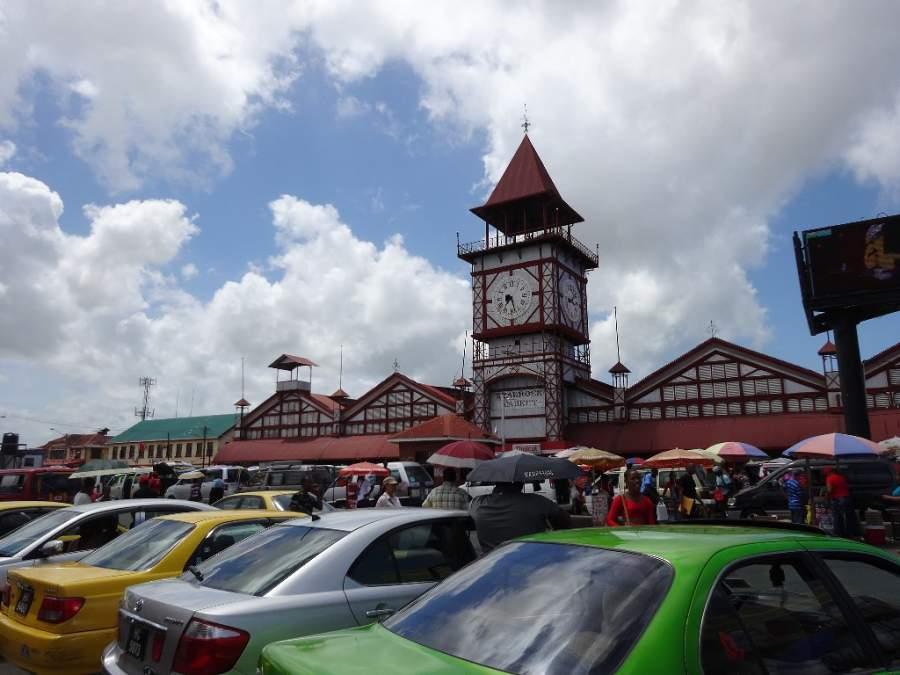 El mercado Stabroek se ubica al sur de Georgetown