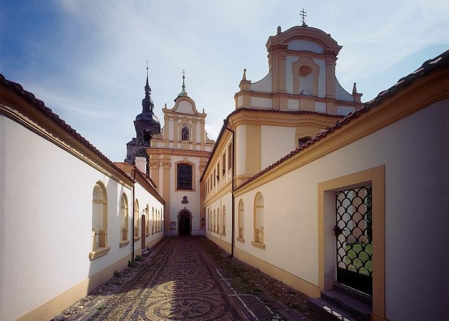Exterior de un monasterio en Pilsen