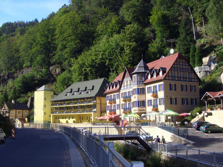 Construcciones típicas en Hrensko