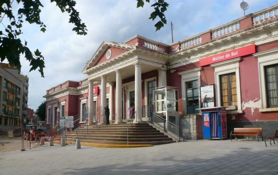 Estación de tren en Molins de Rei