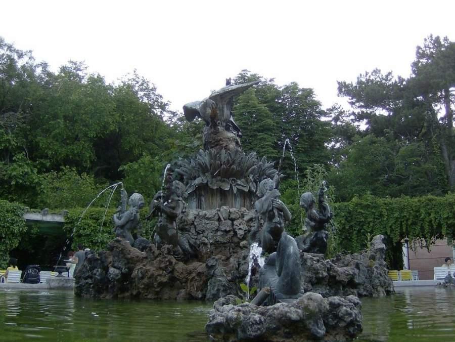 Fuente en el Campo Grande de Valladolid