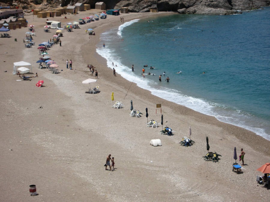 Vista panorámica de la playa