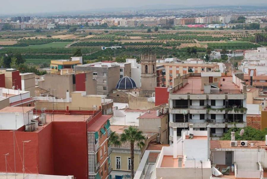 Vista panorámica de una parte de Paterna
