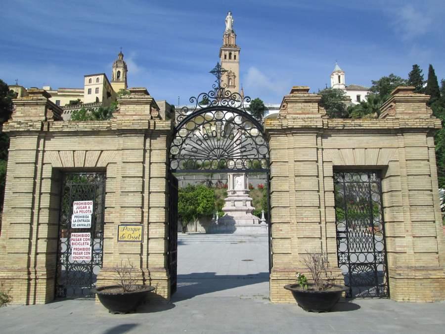 Entrada del Parque de Osset en San Juan de Aznalfarache