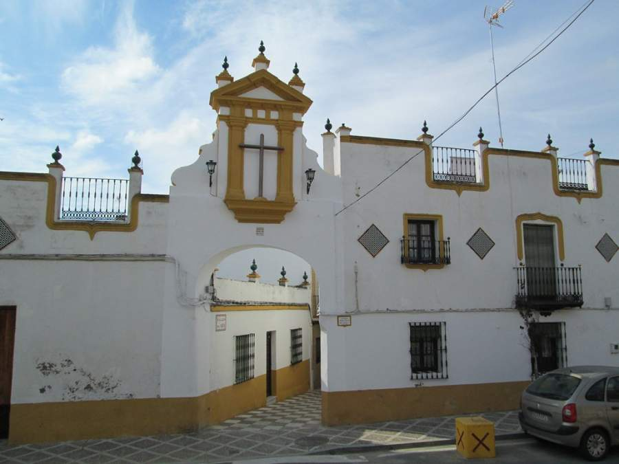 Construcción típica en una calle de San Juan de Aznalfarache