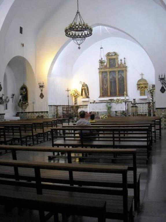 Interior de la Iglesia de San Antonio Abad