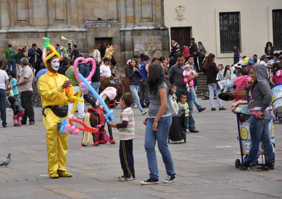 Domingo por la tarde en Bogotá