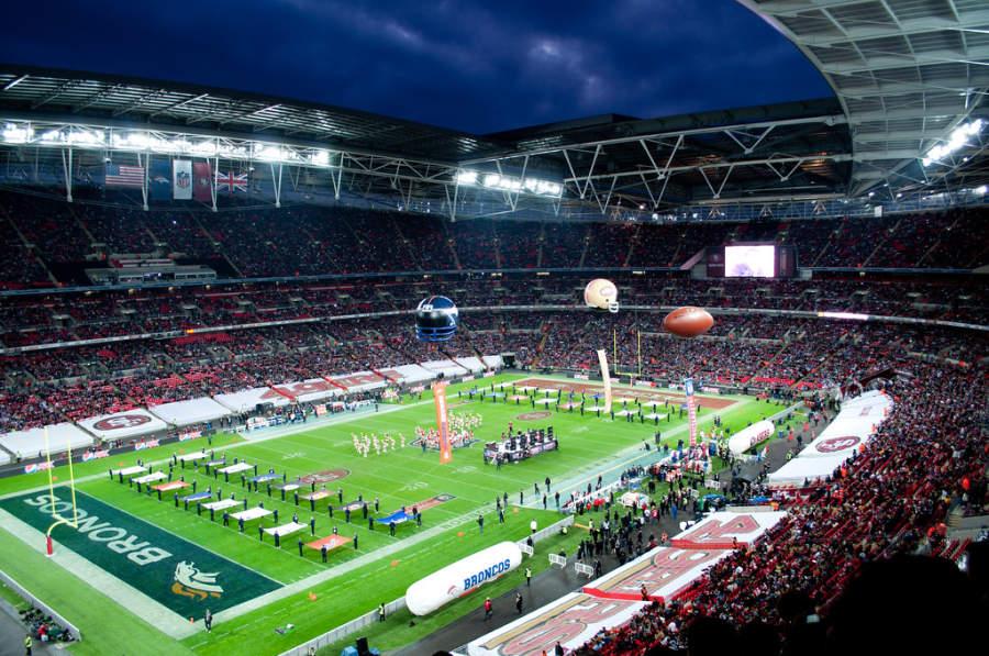 Evento de fútbol en el Estadio Wembley