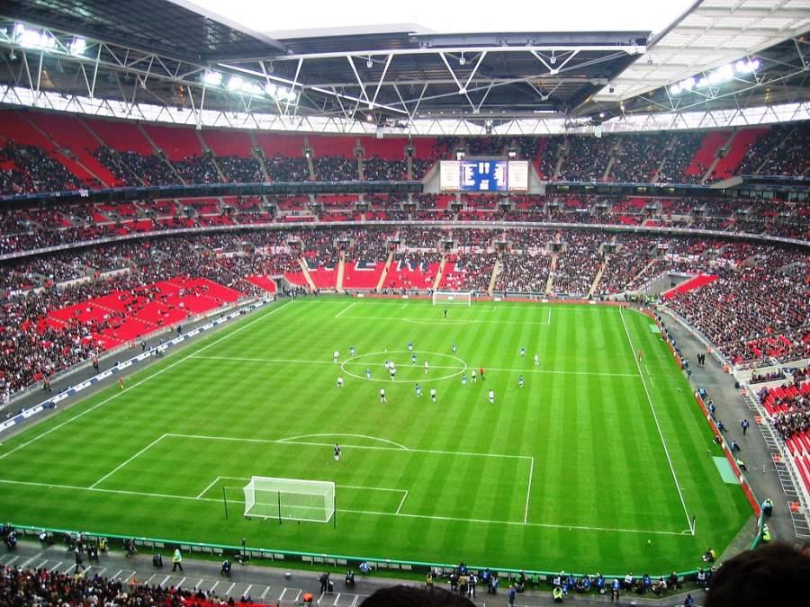 Panorama del interior del Estadio Wembley