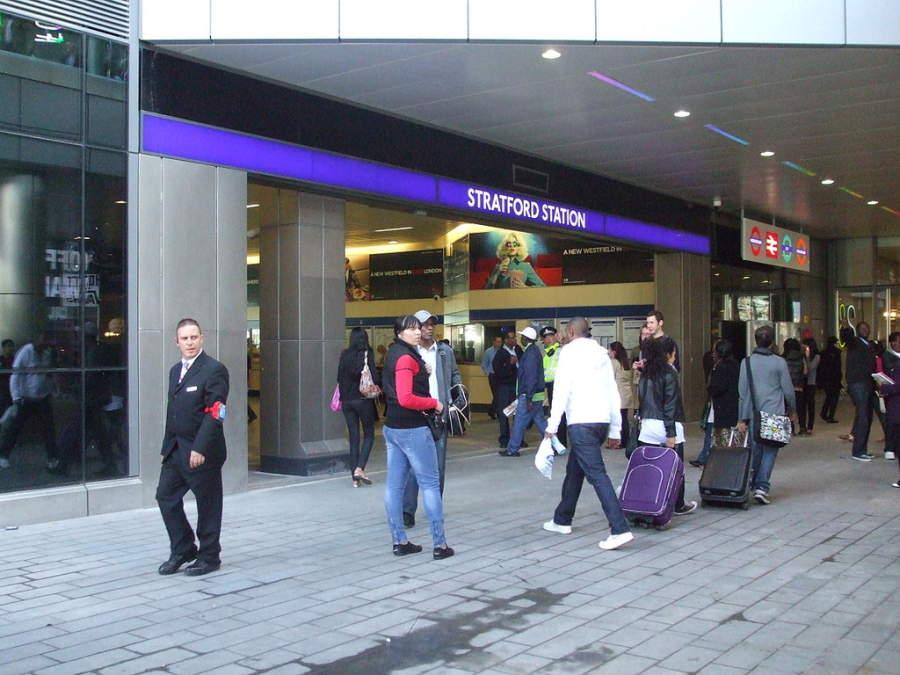 La ciudad de Stratford se localiza el este de Londres
