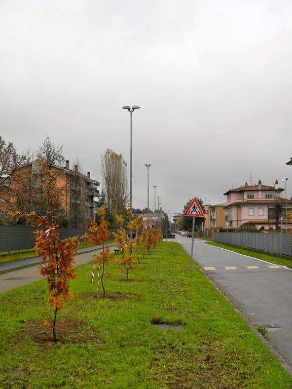 Calles de la zona urbana de Binasco