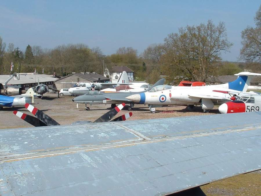 Exhibición del Museo de Aviación de Gatwick