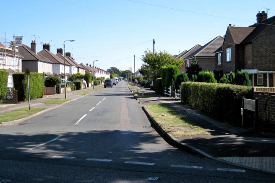 Calle típica en Horley