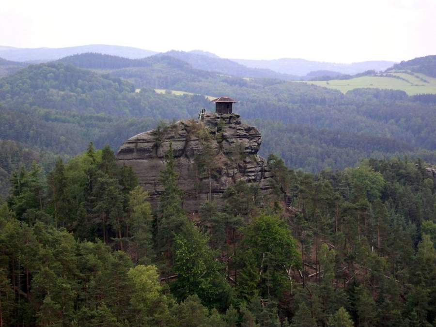 Paisaje típico en los alrededores de Ústí nad Labem