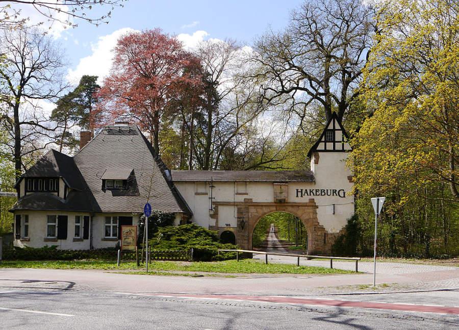 Casa de vigilancia en el castillo Hakeburg en Kleinmachnow