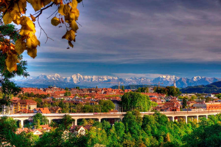 Paisaje típico de Berna