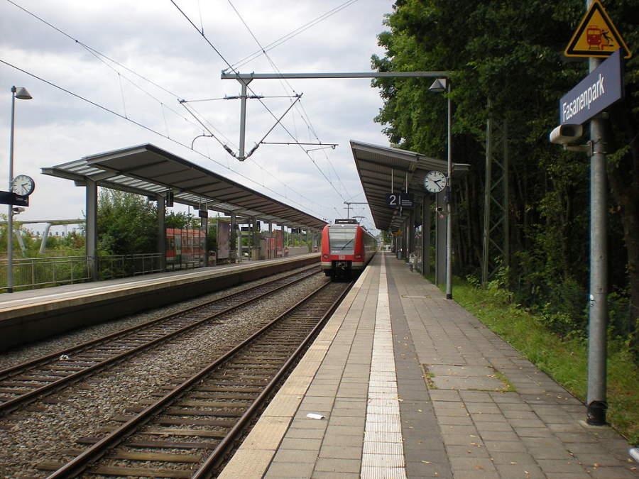 Estación de tren en Unterhaching
