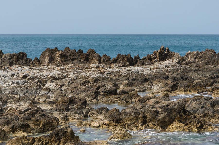 Paisaje en la costa de Rétino