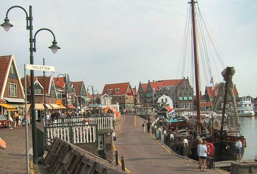 Disfruta de la vista del mar desde Volendam