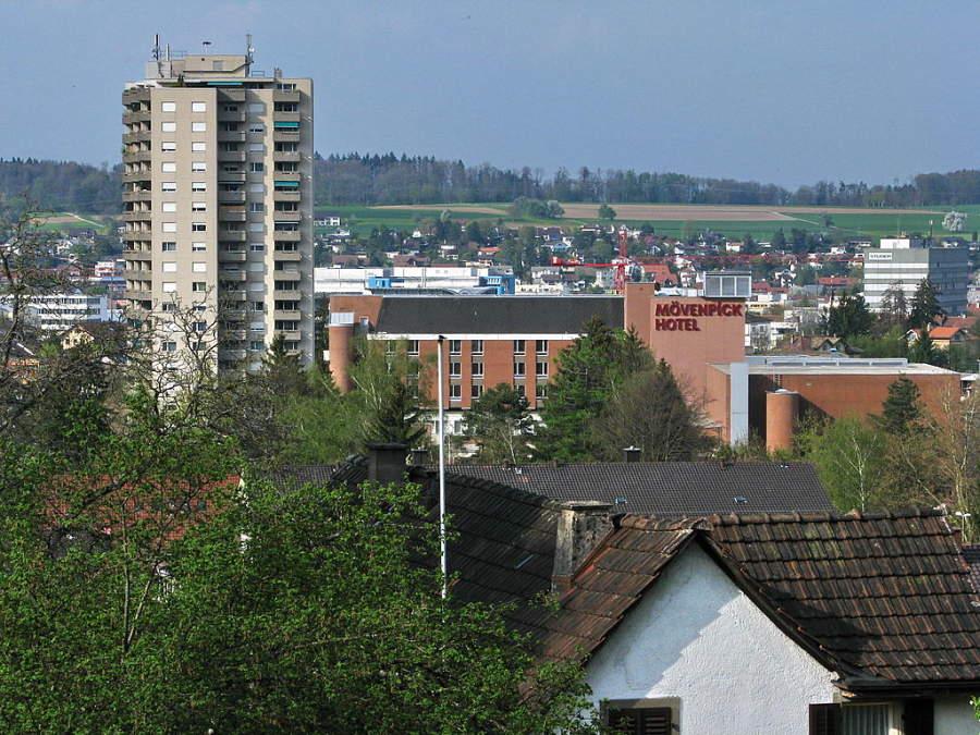 Paisaje urbano de la ciudad de Regensdorf