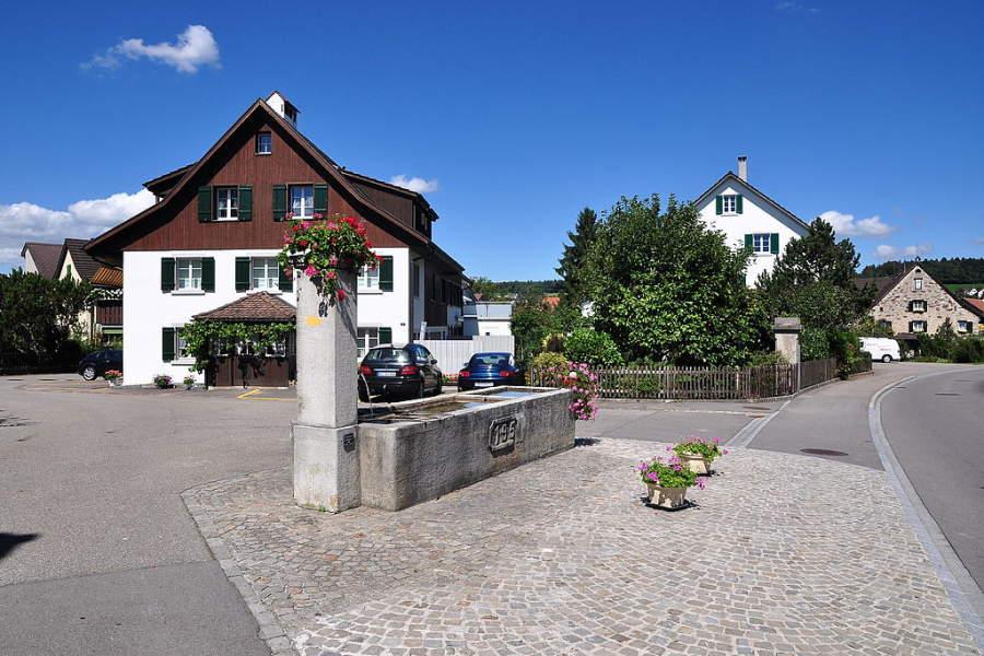Calles en la ciudad de Regensdorf