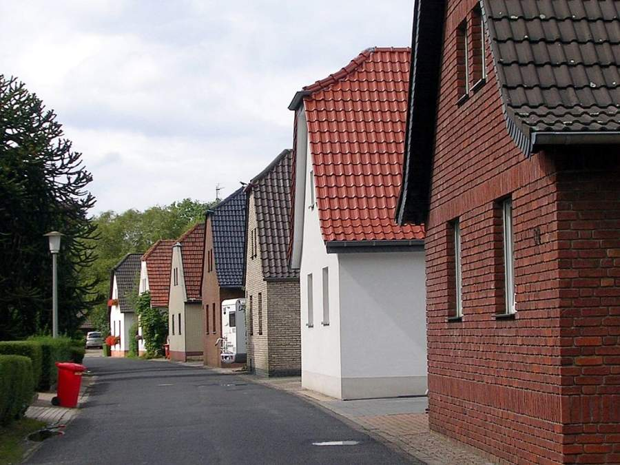 Casas en el distrito de Oppum en Krefeld