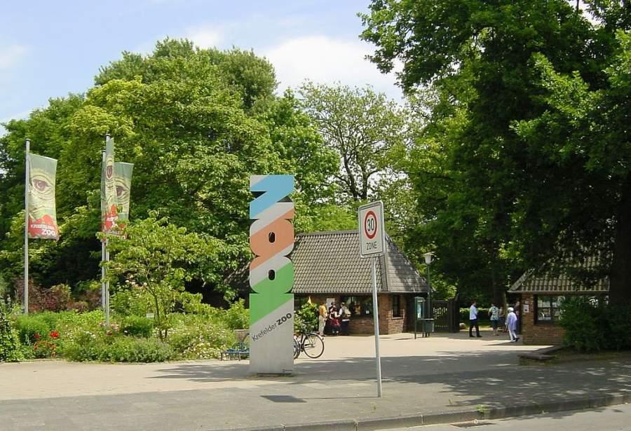 Entrada del Zoológico de Krefeld