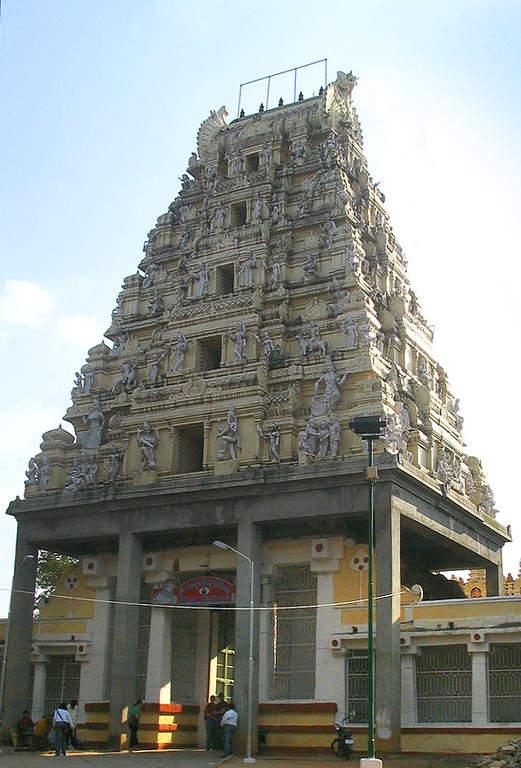 Toma la foto del Templo del Toro en la ciudad de Bangalore