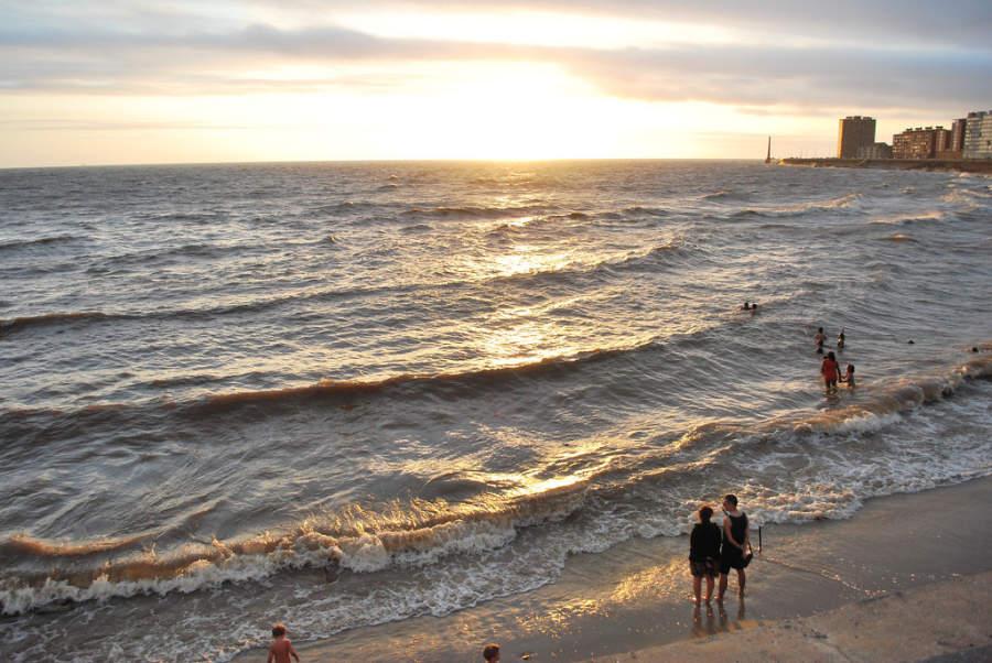 Atardecer en playa Rambla