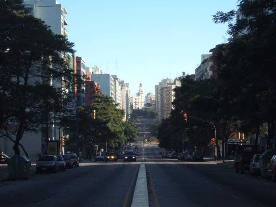 Avenida Libertador en Montevideo