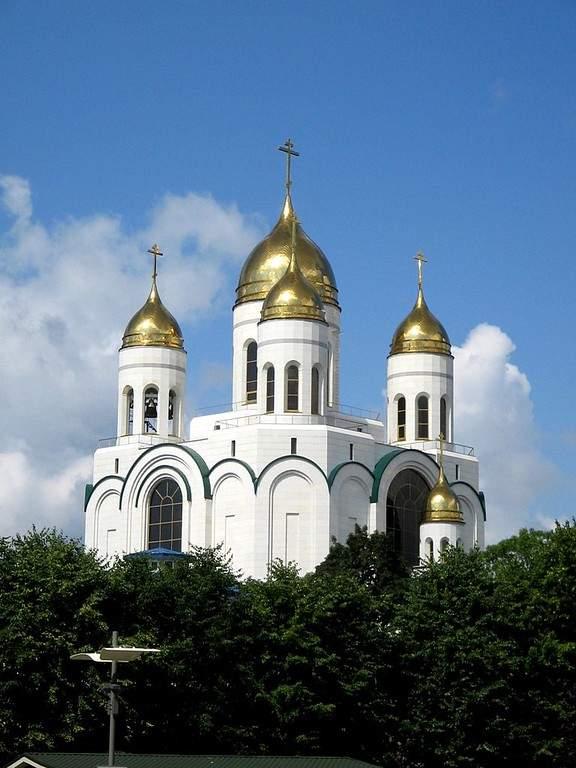 Toma la foto de los edificios de Kaliningrado