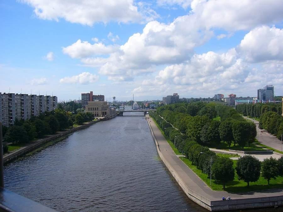 Vista de una parte de la ciudad de Kaliningrado