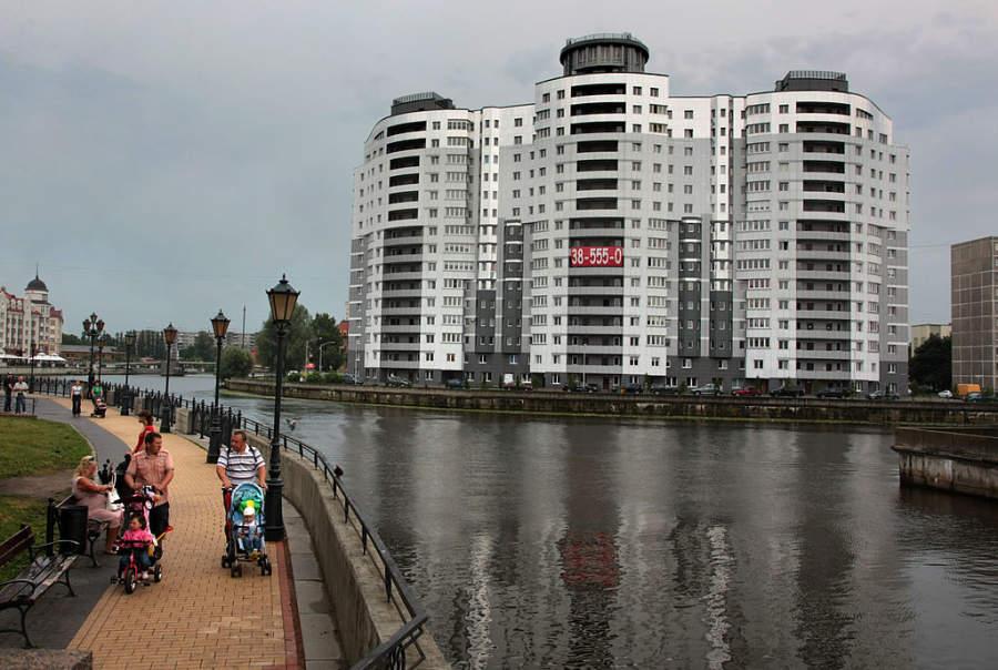 La ciudad de Kaliningrado se ubica a orillas del río Pregel