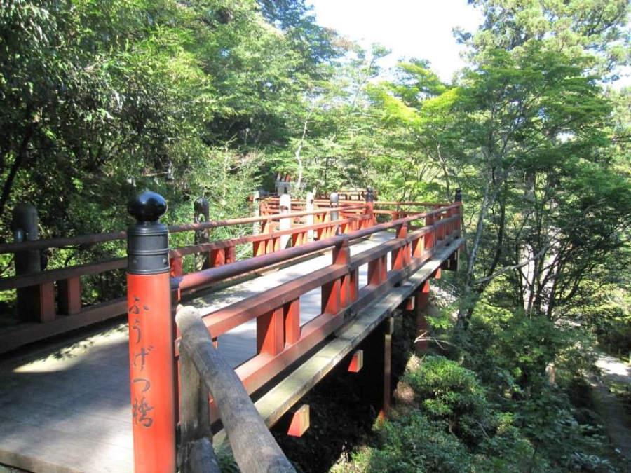 Puente en el Templo Natadera en Komatsu