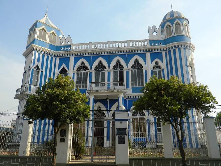 Castillo Azul de estilo art nouveau
