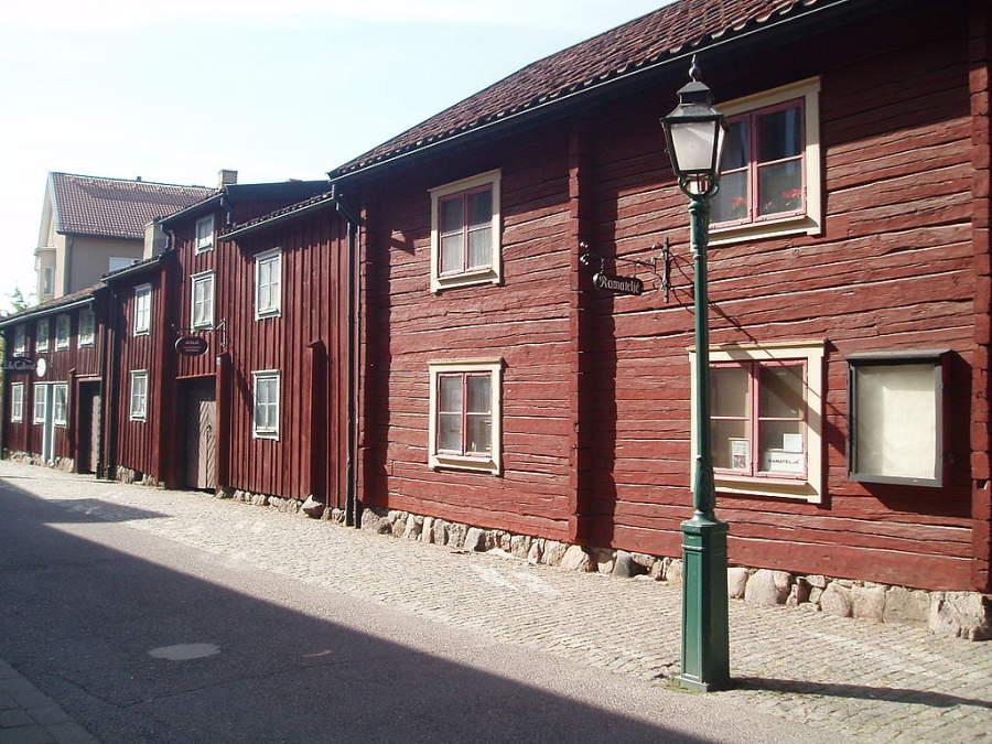 Casas antiguas en el Viejo Linköping