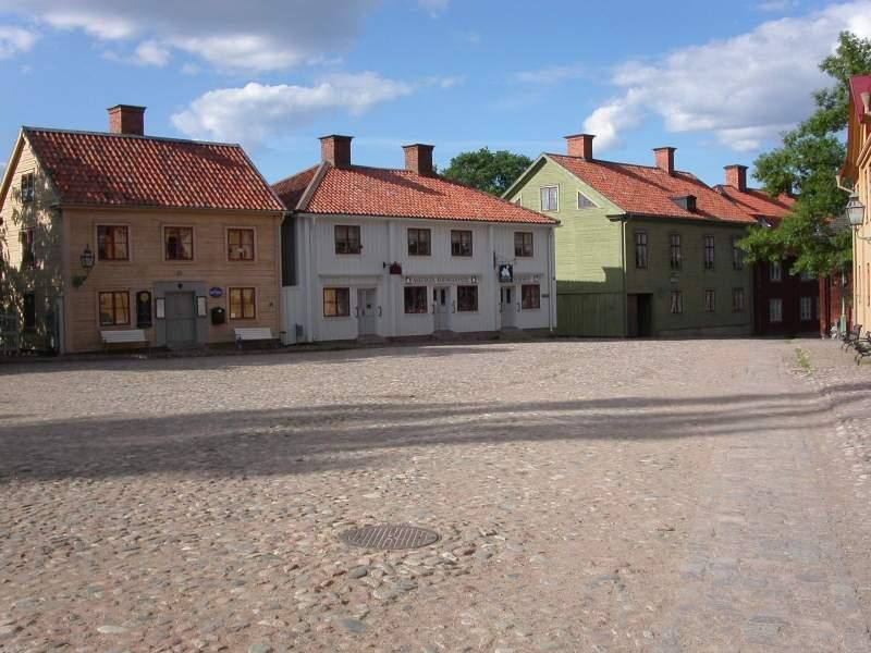 Conjunto de casas en el Viejo Linköping