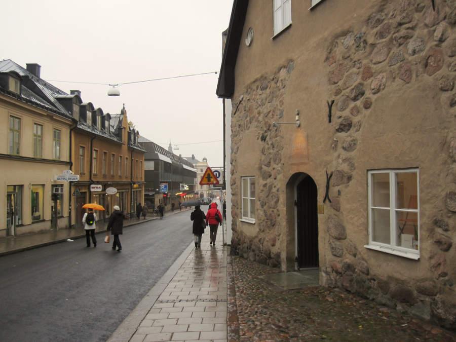 Calle del centro histórico de Linköping