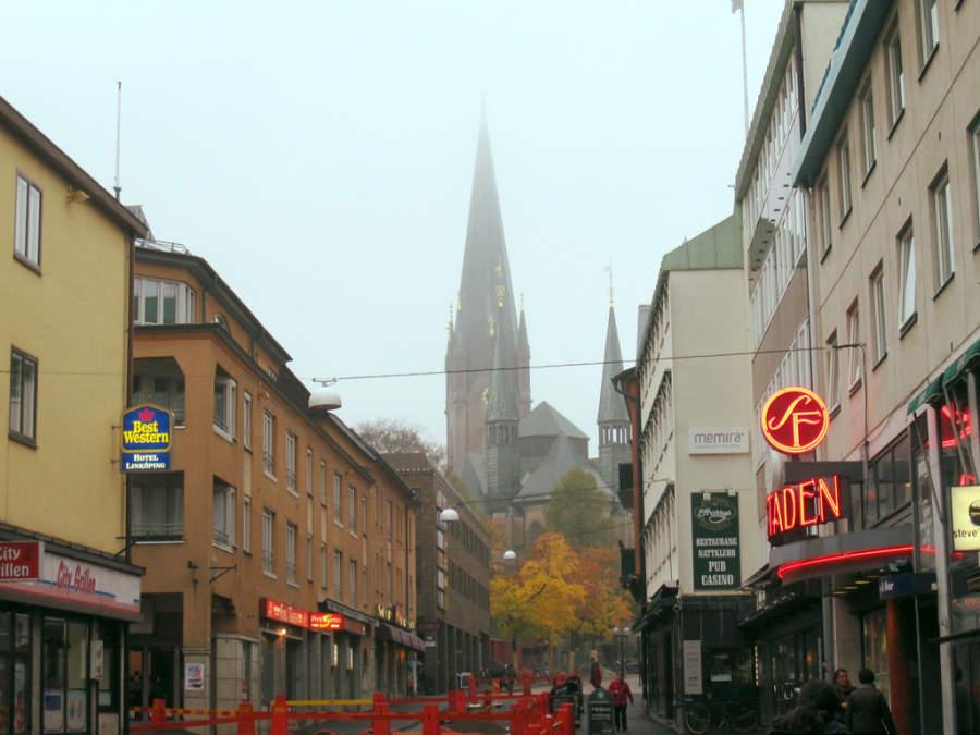 Vista de la Catedral de Linköping, que data del siglo XII
