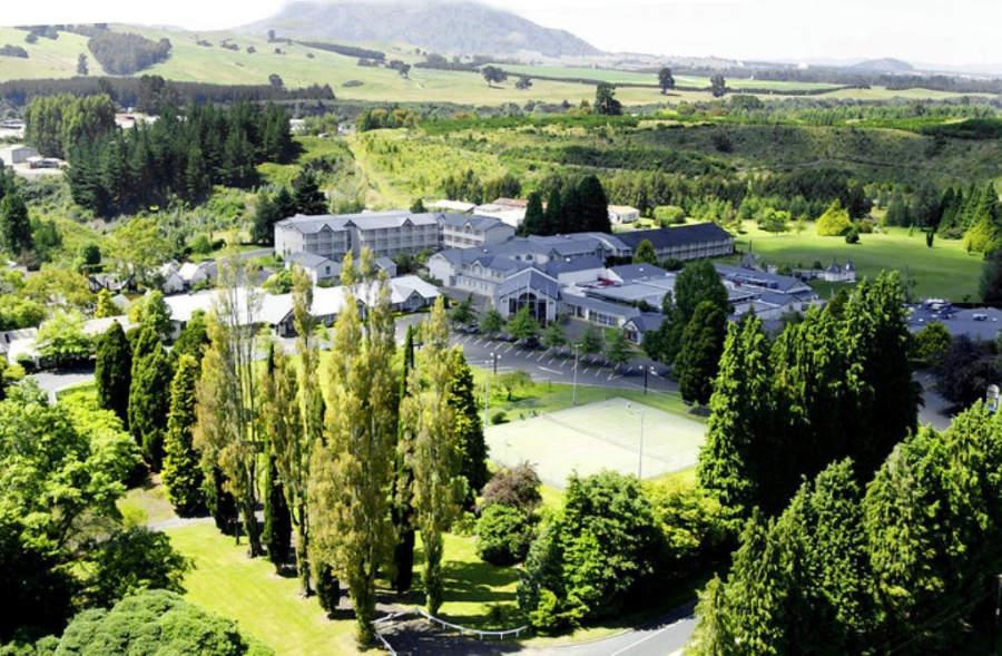 Panorama del complejo Wairakei Resort en Taupo