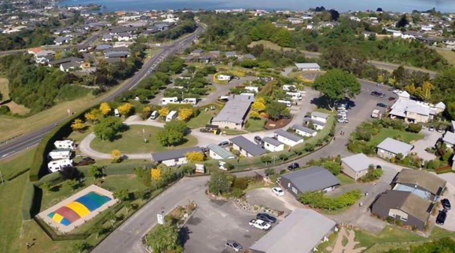 Vista panorámica del pueblo de Taupo