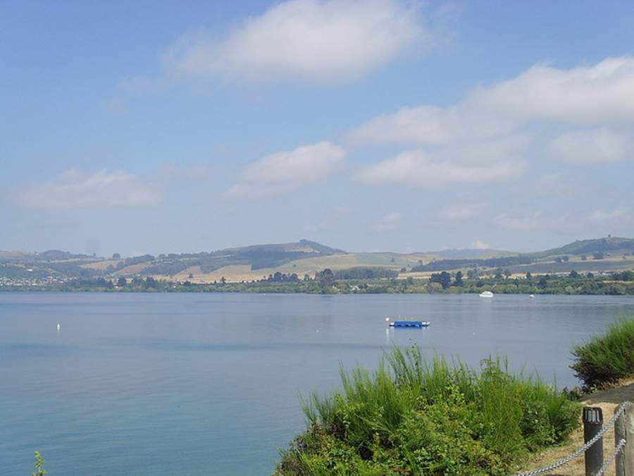 Vista del lago Taupo