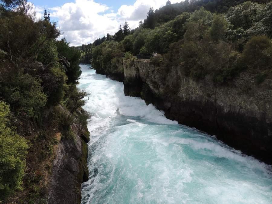 Visita las cataratas Huka en Taupo