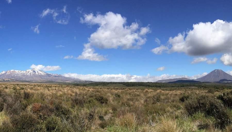 Uno de los principales atractivos cerca de Taupo es el Parque Nacional Tongariro