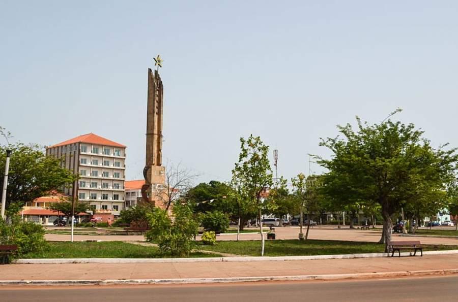 Vista del centro de la ciudad de Bisáu
