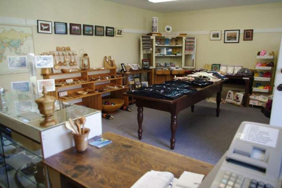 Tienda de souvenirs en el Museo Doukhobor